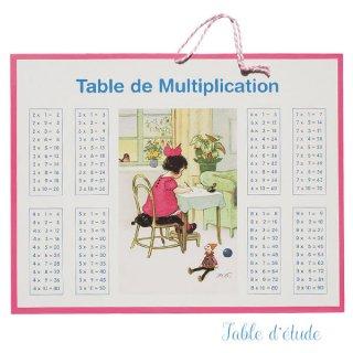 フランス製 足し算 掛け算 勉強表