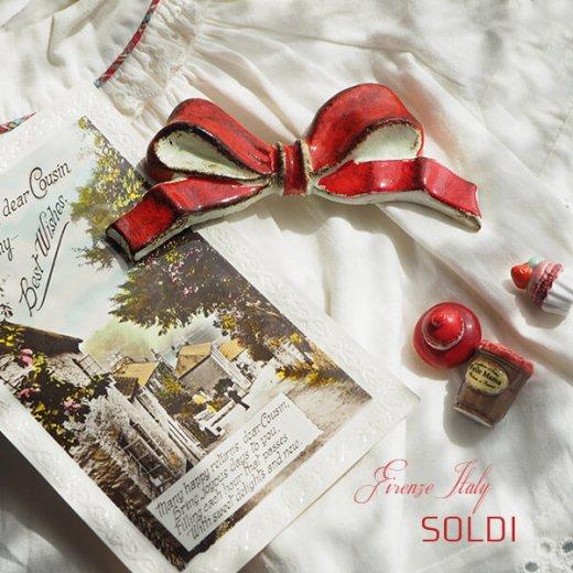 SOLDI ソルディ イタリア フィレンツェ リボン【carmine】【画像3】