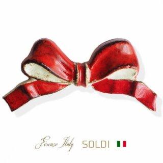 SOLDI ソルディ イタリア フィレンツェ リボン【carmine】