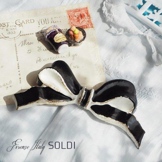 SOLDI ソルディ イタリア フィレンツェ リボン【black】【画像3】