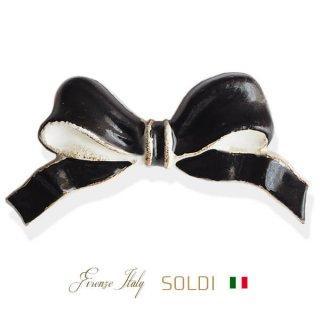 SOLDI ソルディ イタリア フィレンツェ リボン【black】
