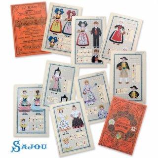 SAJOU(サジュー)手芸 フランス SAJOU 刺繍図案 913【民族衣装】