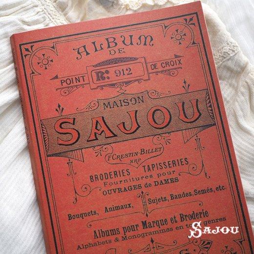 フランス SAJOU 刺繍図案 912【フラワーリース】【画像2】