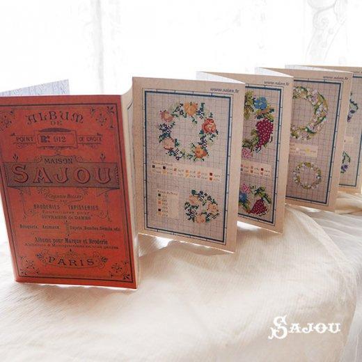フランス SAJOU 刺繍図案 912【フラワーリース】【画像3】
