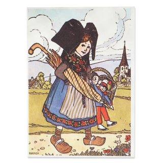 フランスポストカード (ハンジ HANSi faire des courses)