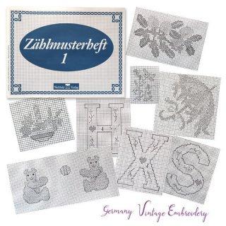 ビンテージ/アンティーク本  ドイツ  ヴィンテージ 刺繍本  Zahlmusterheft【1】