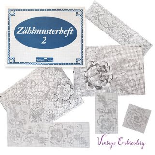 ビンテージ/アンティーク本  ドイツ  ヴィンテージ 刺繍本  Zahlmusterheft【2】