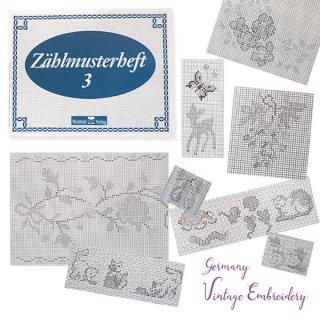 アンティーク ドイツ  ヴィンテージ 刺繍本  Zahlmusterheft【3】