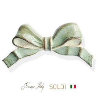 生活雑貨  SOLDI ソルディ イタリア フィレンツェ リボン【opal green】