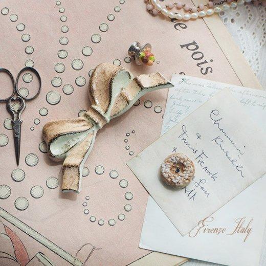 SOLDI ソルディ イタリア フィレンツェ リボン【pink beige】【画像7】
