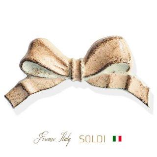 生活雑貨  SOLDI ソルディ イタリア フィレンツェ リボン【pink beige】
