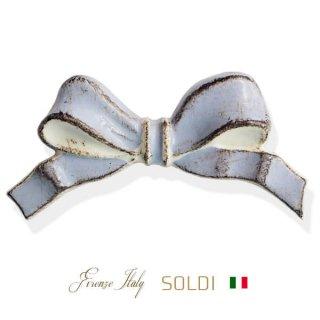 SOLDI ソルディ イタリア フィレンツェ リボン【chalk blue】