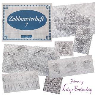 ドイツ  ヴィンテージ 刺繍本  Zahlmusterheft【7】