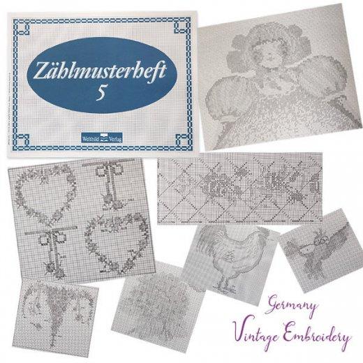 ドイツ  ヴィンテージ 刺繍本  Zahlmusterheft【5】