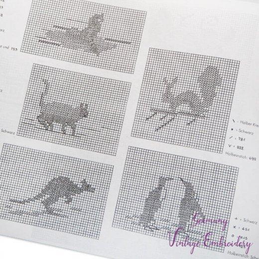 ドイツ  ヴィンテージ 刺繍本  Zahlmusterheft【24】【画像4】