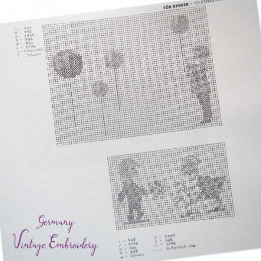 ドイツ  ヴィンテージ 刺繍本  Zahlmusterheft【24】【画像6】