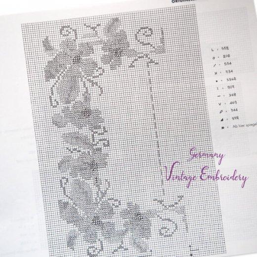 ドイツ  ヴィンテージ 刺繍本  Zahlmusterheft【24】【画像7】