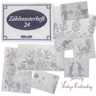 ガーリー & 乙女 アンティーク ヴィンテージ ドイツ  ヴィンテージ 刺繍本  Zahlmusterheft【24】