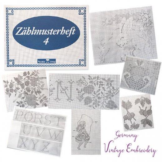 ドイツ  ヴィンテージ 刺繍本  Zahlmusterheft【4】