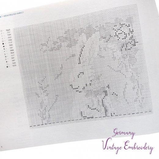 ドイツ  ヴィンテージ 刺繍本  Zahlmusterheft【4】【画像3】