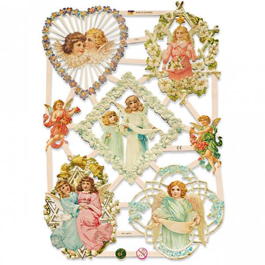 ドイツ クロモス【M】花と天使たち