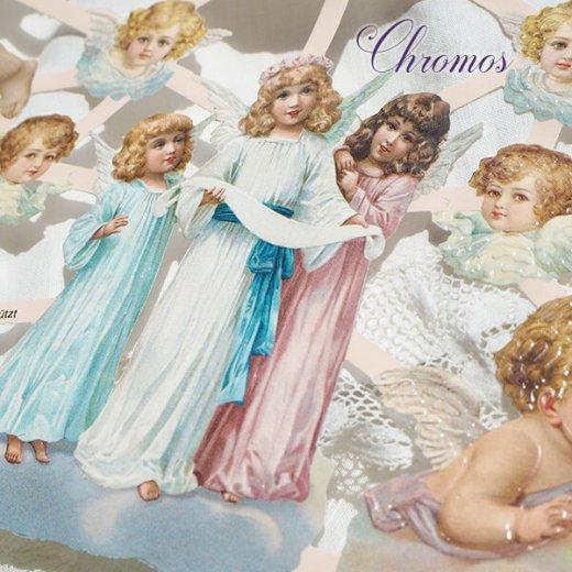 ドイツ クロモス【M】雲と天使【画像2】