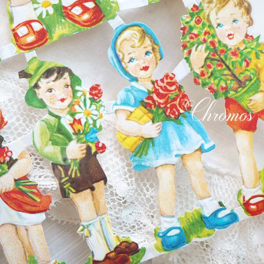 ドイツ クロモス【M】(チャイルド 花と幼子 バラ 忘れな草 デイジー)【画像2】