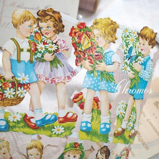 ドイツ クロモス【M】花と幼子【画像4】