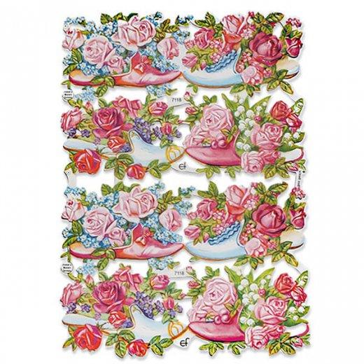 ドイツ クロモス【M】幸せの靴と花