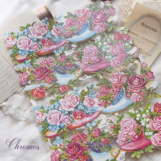 ドイツ クロモス【M】幸せの靴と花【画像2】