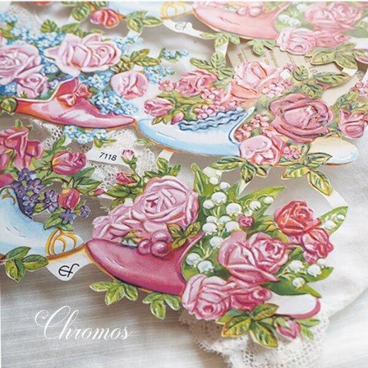 ドイツ クロモス【M】幸せの靴と花【画像3】