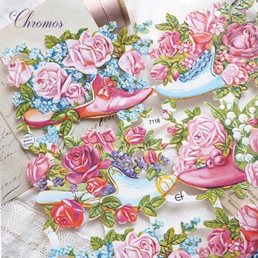 ドイツ クロモス【M】幸せの靴と花【画像4】