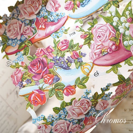 ドイツ クロモス【M】幸せの靴と花【画像7】