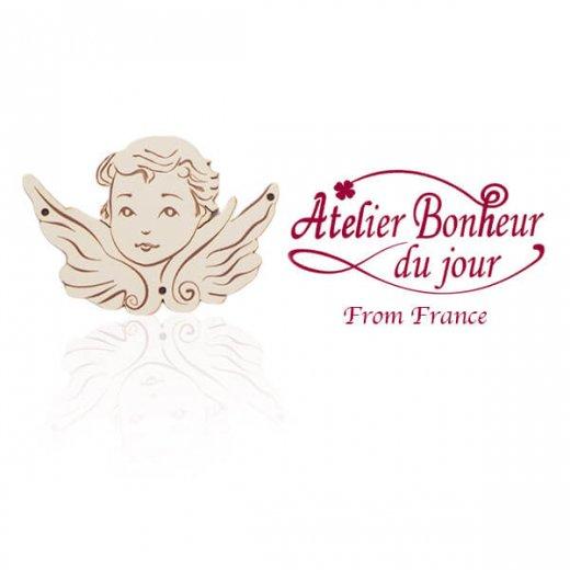 フランス輸入ボタン アトリエ・ボヌール・ドゥ・ジュール【天使】