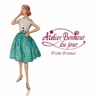 フランス輸入ボタン アトリエ・ボヌール・ドゥ・ジュール【グリーンスカート】