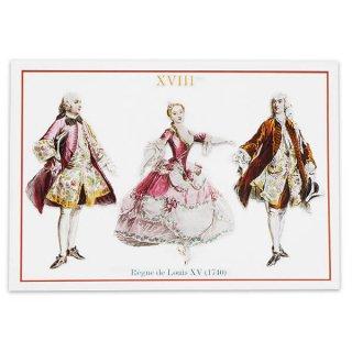 フランス ポストカード 【ヴィクトリアン朝 ルイ15世時代1740年衣装 】