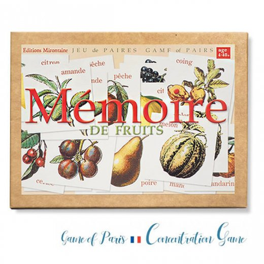 フランス 記憶力 カードゲーム メモワール【フルーツ】 Editions Mirontaine エディション ミロンテーン社