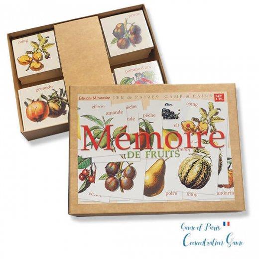 フランス 記憶力 カードゲーム メモワール【フルーツ】 Editions Mirontaine エディション ミロンテーン社【画像3】