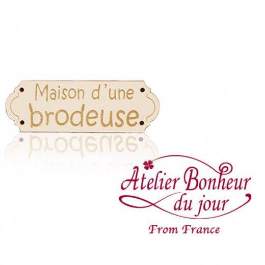 フランス輸入ボタン アトリエ・ボヌール・ドゥ・ジュール【Maison d'une brodeuse】