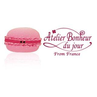 フランス輸入ボタン アトリエ・ボヌール・ドゥ・ジュール【マカロン・ベリー】