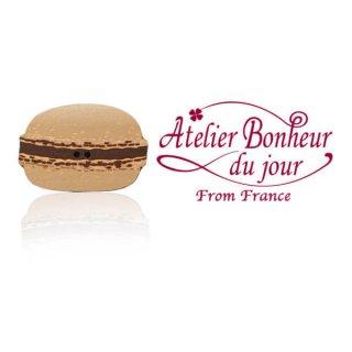 フランス輸入ボタン アトリエ・ボヌール・ドゥ・ジュール【マカロン・ショコラ】