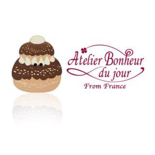 フランス輸入ボタン アトリエ・ボヌール・ドゥ・ジュール【ルリジューズ・ショコラ】