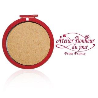 フランス輸入ボタン アトリエ・ボヌール・ドゥ・ジュール【 Mサイズ 刺繍枠 丸枠 レッド】