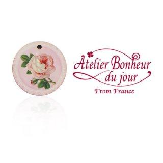 フランス輸入ボタン アトリエ・ボヌール・ドゥ・ジュール【バラのボタン】