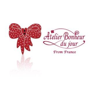 フランス輸入ボタン アトリエ・ボヌール・ドゥ・ジュール【ドットリボン】