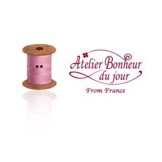 フランス輸入ボタン アトリエ・ボヌール・ドゥ・ジュール【ピンク 糸巻き】