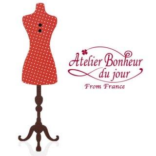 輸入ボタン アトリエ・ボヌール フランス輸入ボタン アトリエ・ボヌール・ドゥ・ジュール【ドット柄トルソー】