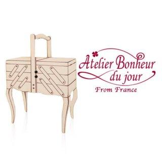 フランス輸入ボタン アトリエ・ボヌール・ドゥ・ジュール【猫足の裁縫箱】