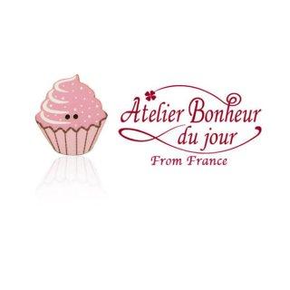 フランス輸入ボタン アトリエ・ボヌール・ドゥ・ジュール【カップケーキ ベリー】