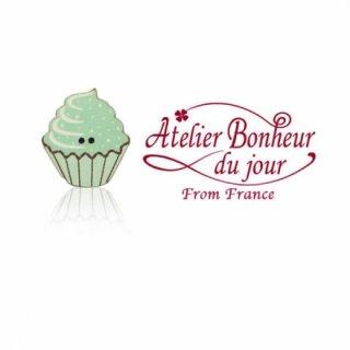 フランス輸入ボタン アトリエ・ボヌール・ドゥ・ジュール【カップケーキ グリーン】
